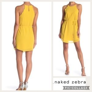 naked zebra halter dress - size s